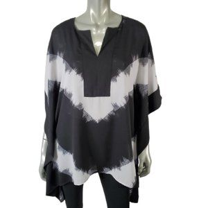 Mossimo Kimono Top M Pullover Lightweight Black